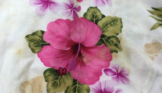 花柄ワンピースの蓄積シミ・汚れなどをしっかり除去(染み抜き)