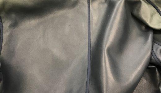 エルメス(HERMES)レザージャケットの色焼け・色抜けの修復カラーリング