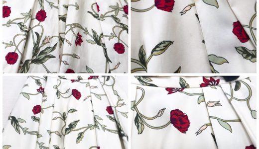 花柄スカート についた不明シミ